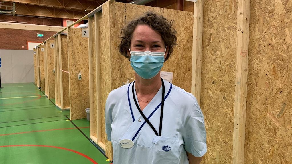 Åsa Maxeby Ansvarig för vaccinationscentralen Mässhallarna i Norrköping