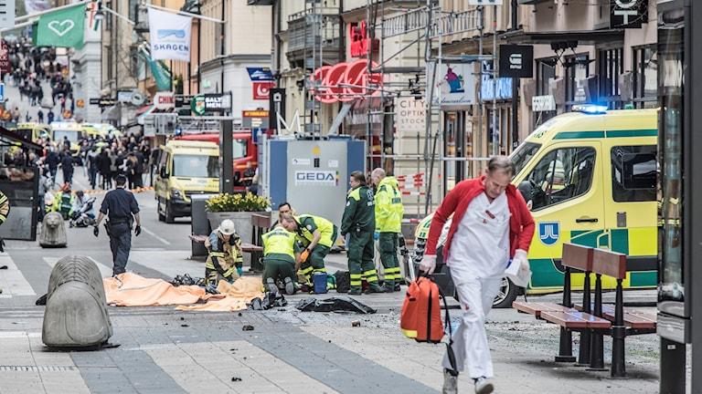 Terrordådet i Stockholm.