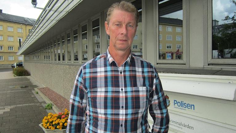 Leif Hermansson på Polisen i Norrköping, chef för avdelningen för grova brott.