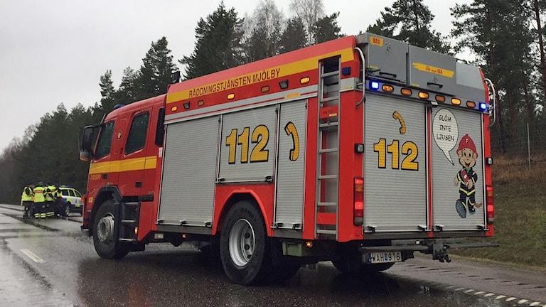 Brandbil från Räddningstjänsten Mjölby.