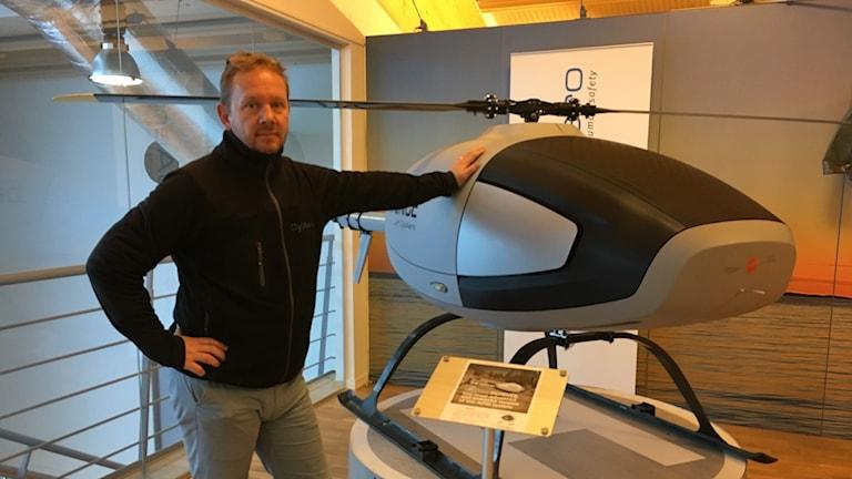 Niklas Palmér på Linköpingsföretaget CybAero.