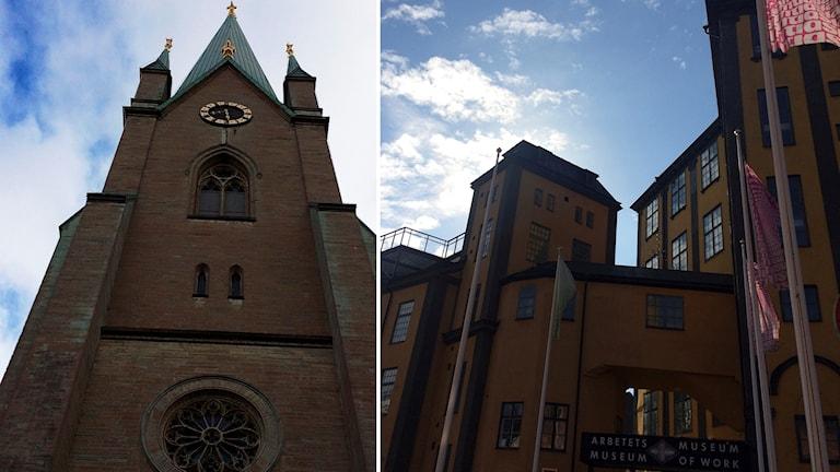 Linköping och Norrköping.