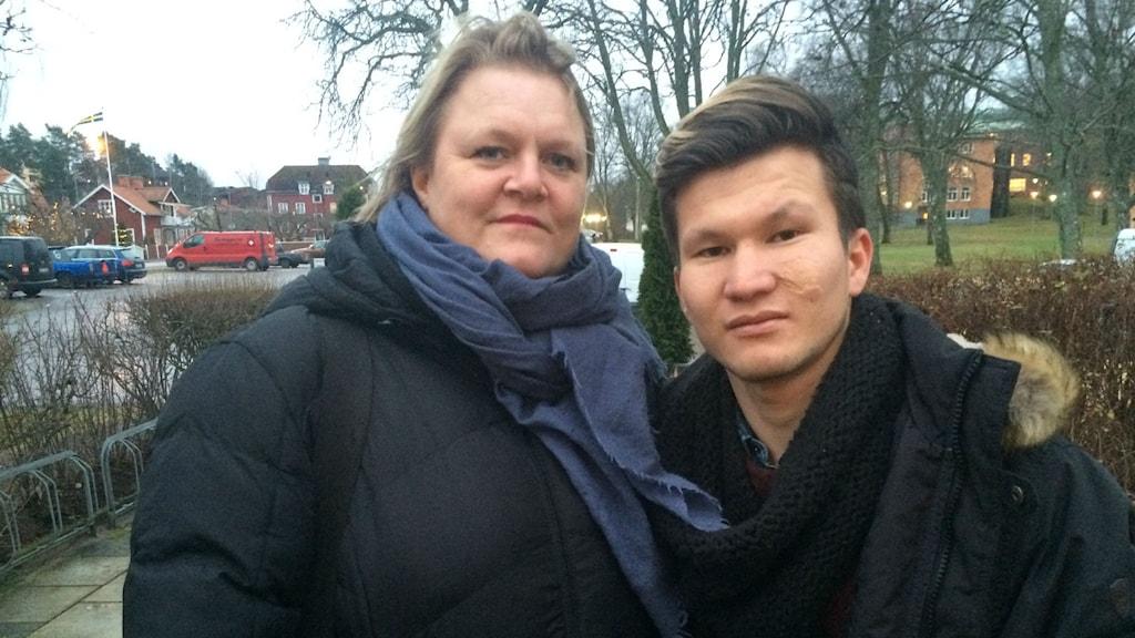 Anna Doll, samordnare tillsammans Söderköpingskommun och Arif Moradi, 18-årig flykting från Afghanistan