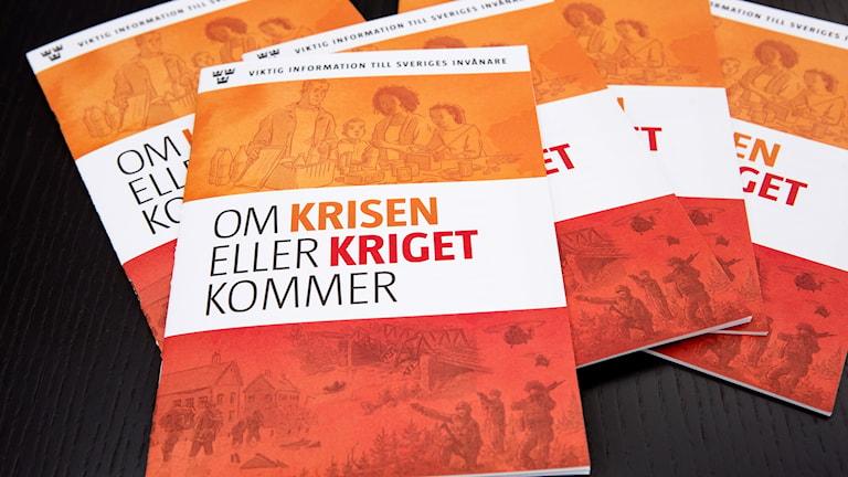 Broschyren Om krisen eller kriget kommer.