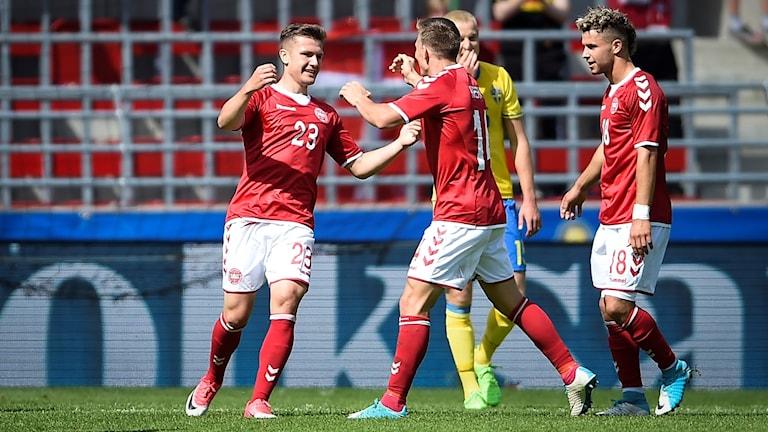U21-landslaget förlorade med 0-2 mot Danmark