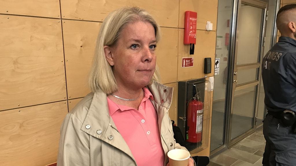 Malin Löfvenberg, åskådare dubbelmordet Linköpings tingsrätt