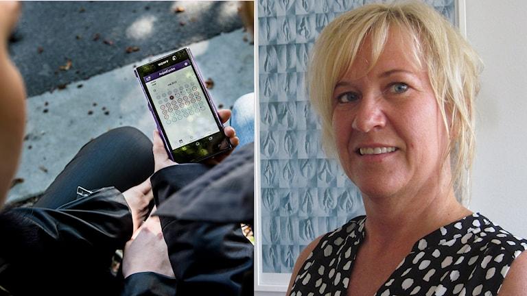 Barnmorskan Åsa Frisk menar att p-appen är lämplig för unga.