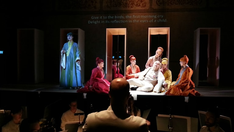Repetitioner av Vadstena-Akademiens uppsättning av Son of Heaven. Foto: Molly Berggren/Sveriges Radio