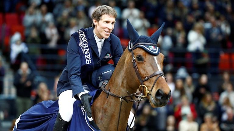 Henrik von Eckermann på hästen Mary Lou 194 vann världscuphoppning under Gothenburg Horse Show.