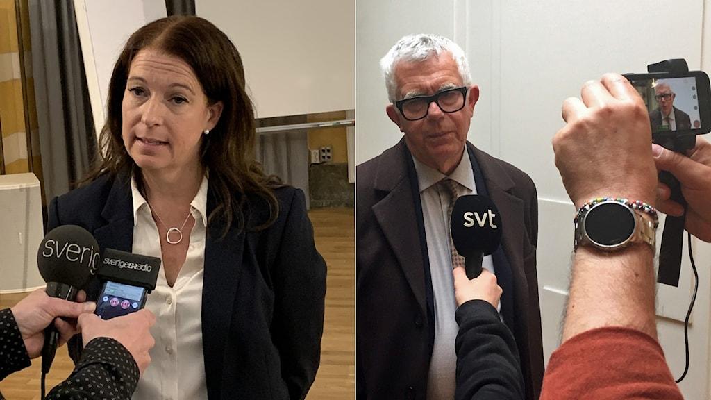 Åklagaren Anna Lander och försvarsadvokaten Per Oehme gav helt olika bilder av händelseförloppet under mordrättegångens första dag.