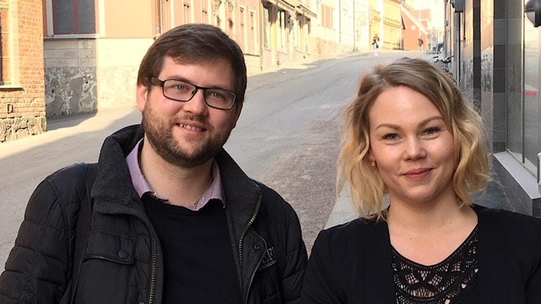 Carl Netz från Reflx Kommunikation i Norrköping och Jenni Laapotti  från Digitalsnack- Sociala Mediebyrån.