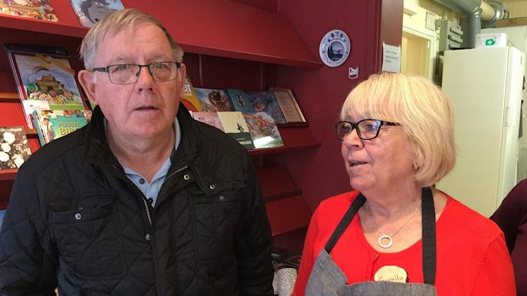 Per-Inge Karlsson och Gunilla Lidebjer i Skänninge.