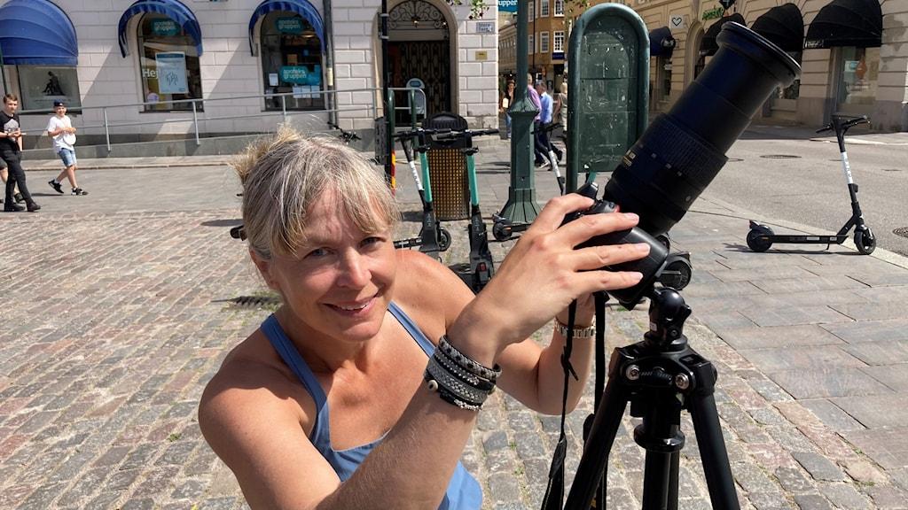 Åsa Thorén, Östergötlands Astronomiska Sällskap fotograferar solförmörkelsen