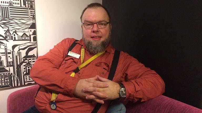 Nils Grönlund, bibliotekarie i Mjölby och på Skänninge anstalten.