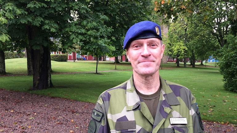 Övningsledare Peter Hagsköld.