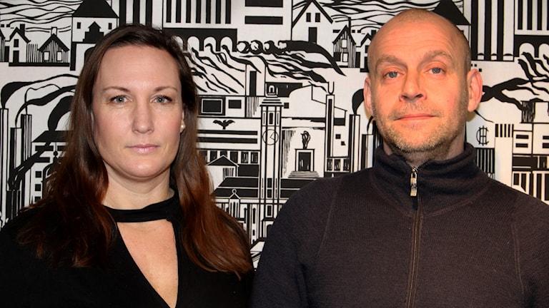 Paulina Bengtsson, verksamhetschef på Novahuset och områdespolisen Mattias Magnestrand, som jobbar mot människohandel och sexköp.