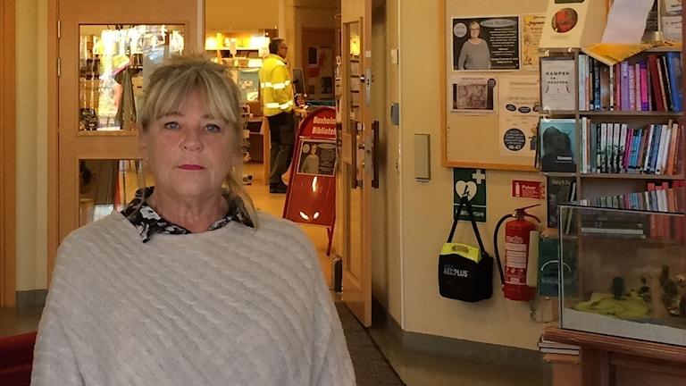 Britt-Marie Johansson (S), kommunstyrelsens ordförande i Boxholm.