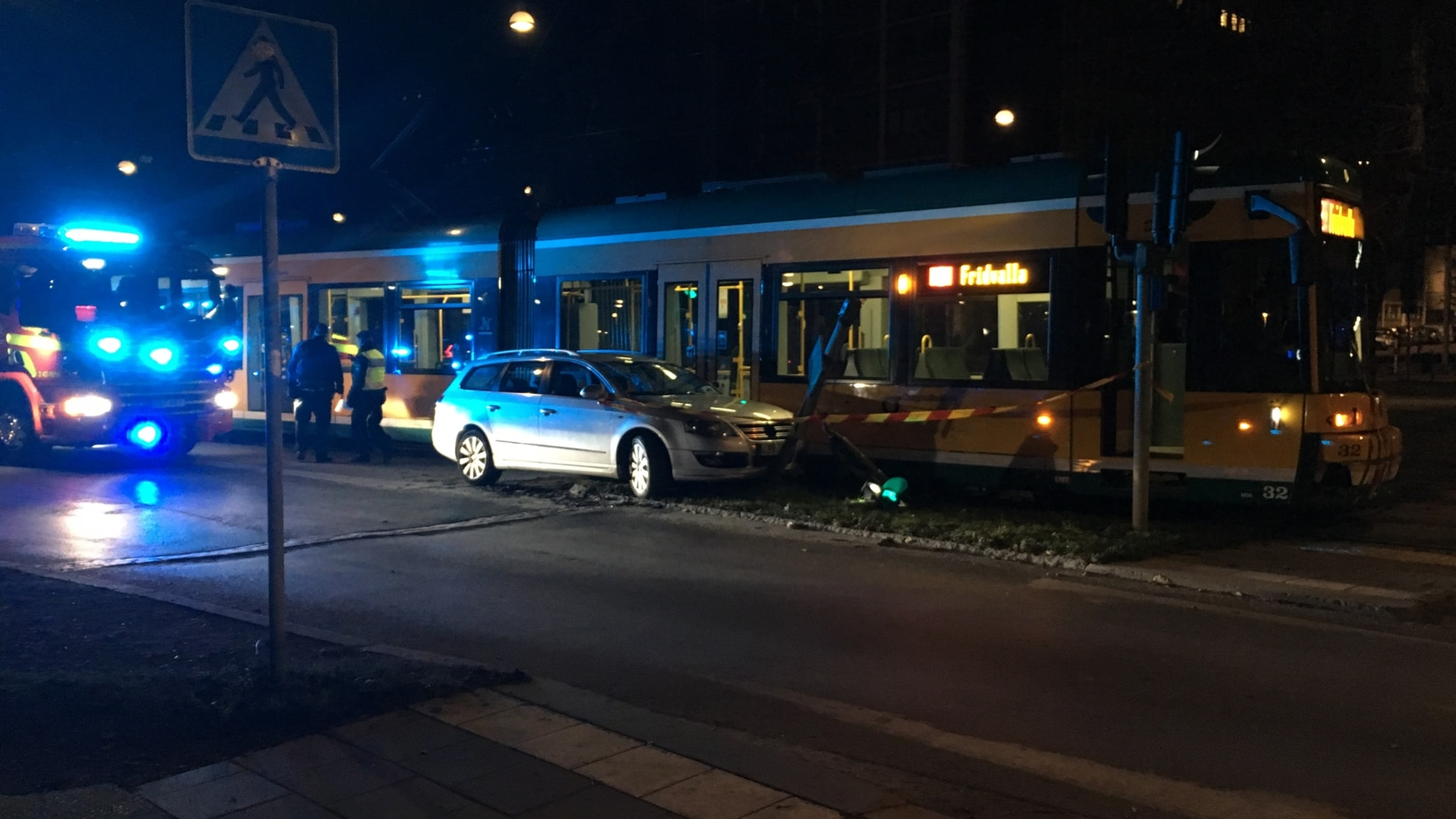 19 skadade vid sparvagnsolycka