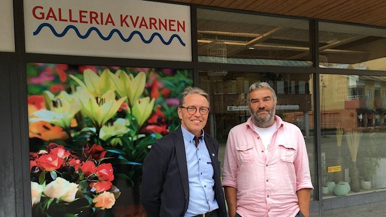 Mjölbypolitikerna Lars-Åke Pettersson (M), och Franco Sincic (V)