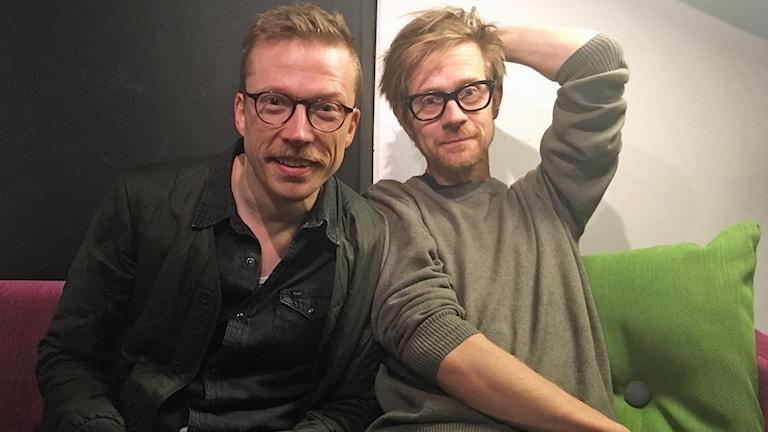 """Måns Nilsson och Anders """"Ankan"""" Johansson."""