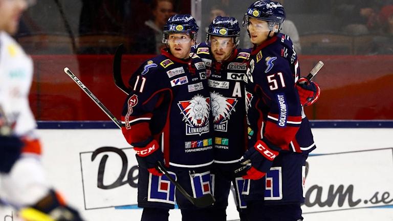 Tre hockeyspelare