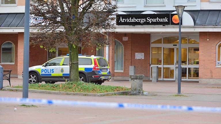 Åtvidabergs sparbank utsattes för ett rån.