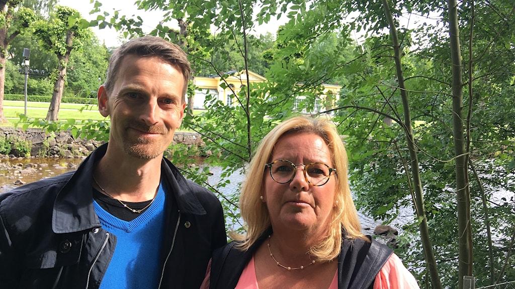 Emil Selse, projektledare Visit Östergötland och Ann-Britt Nilsson, turismsamordnare Finspångs kommun.