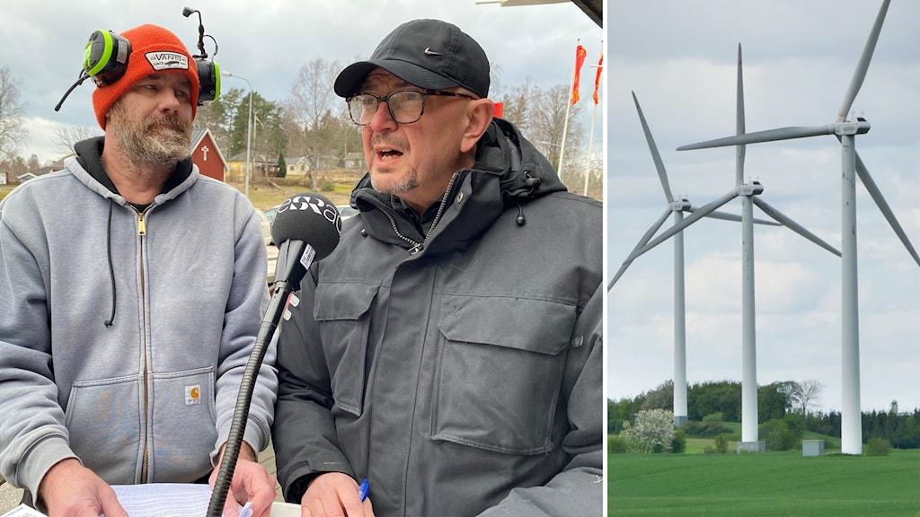 Erik Westlind och Göran Linder från föreningen Rättvisa vindar norra Östergötland.