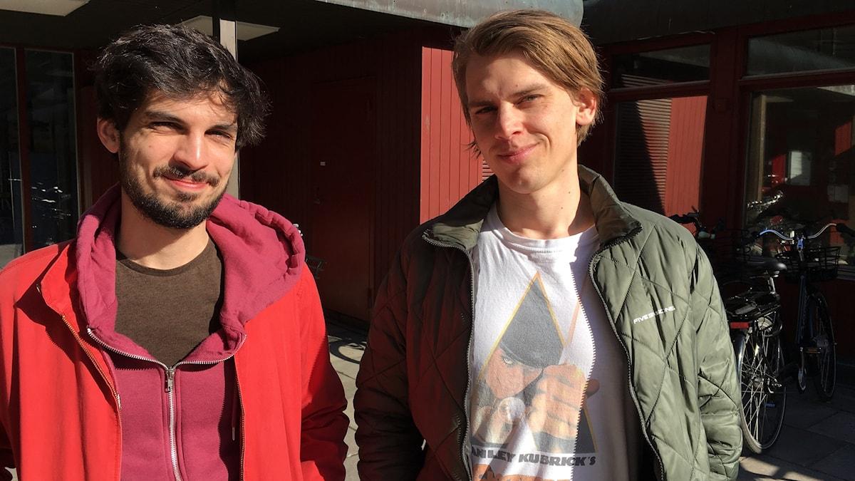 Iliyas Jorio och Fredrik Präntare
