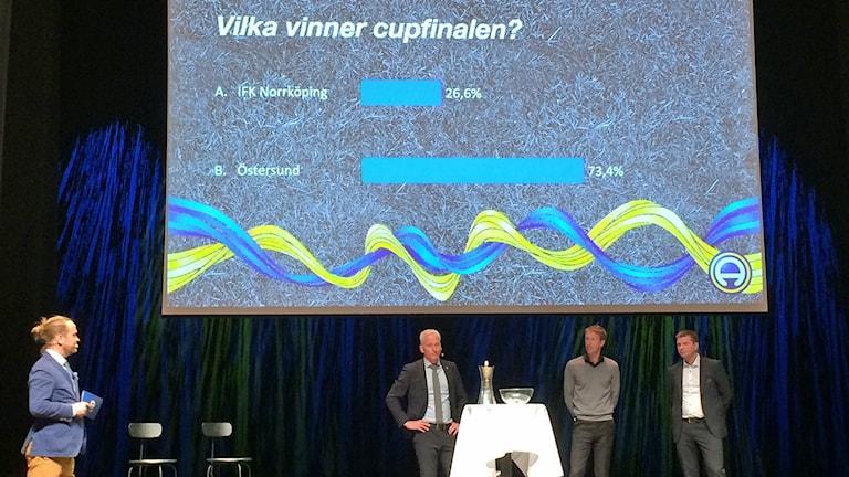 Deltagarna på upptaktsträffen tippade vem som vinner cupfinalen.