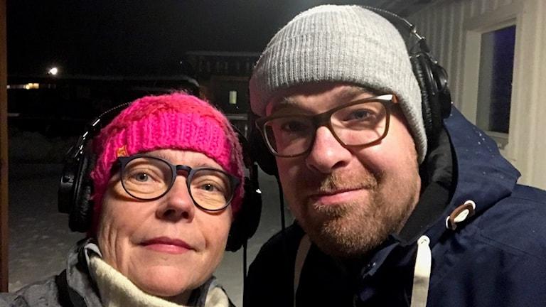 Cia Sivertsdotter och Matthias Lindholm.