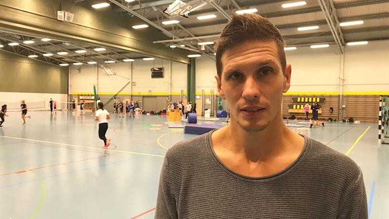 Tobias Stucki idrott och SO-lärare på Grosvadsskolan i Finspång.