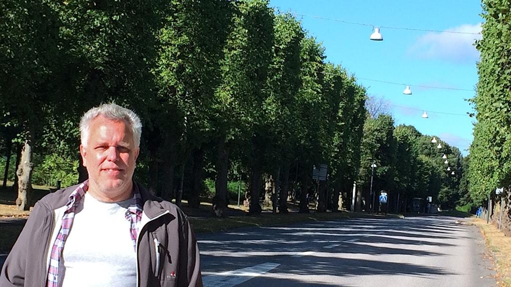 Peter Kristensson på Norra Promenaden.