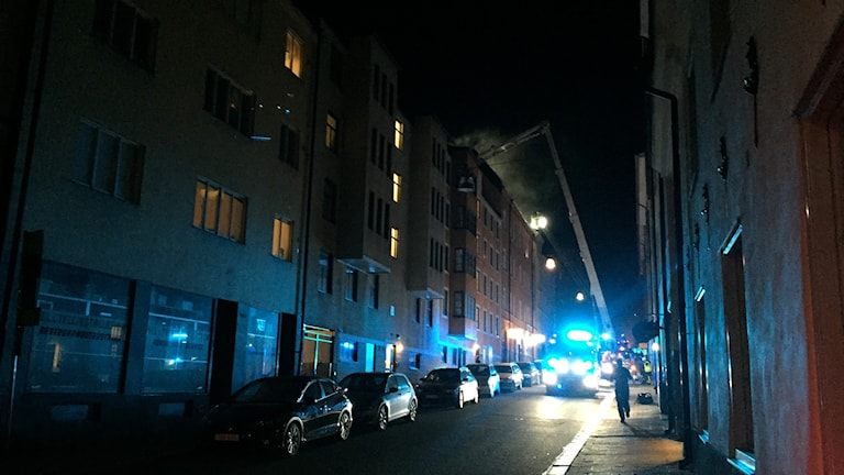 Brand i Norrköping