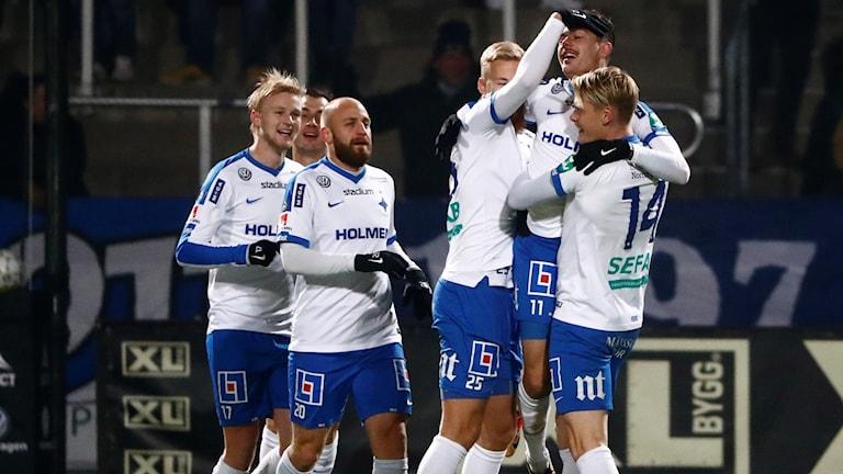 Måljublande IFK-spelare