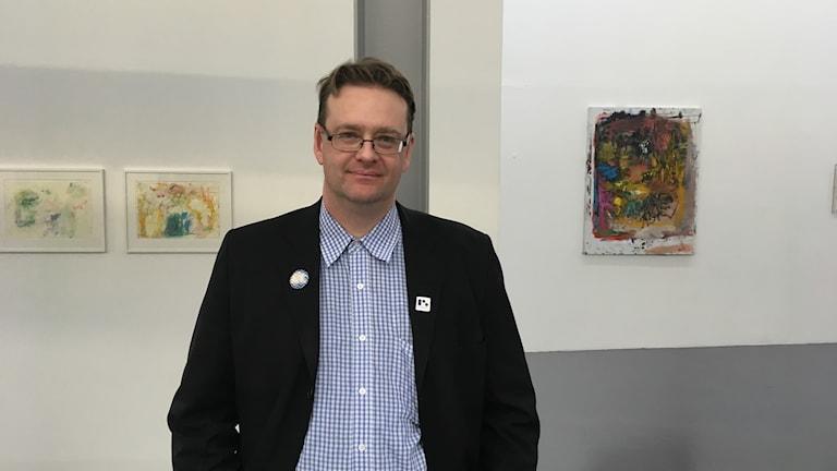 Konsthallschefen Lars-Ove Östensson. Konsthallen passagen.