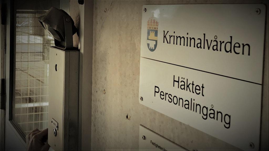 Bild på skyld vid häktet i Norrköping.