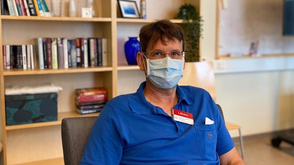 Överläkaren Ingemar Lagerlöf, hematolog på Hematologiska kliniken på Linköpings universitetssjukhus US.