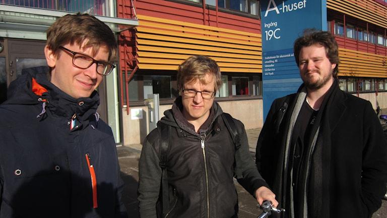 Jimmi Thallberg, Patrik Holmqvist och Christopher Norling.