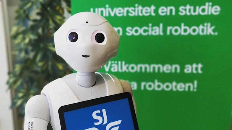LiU-roboten Pepper kommer svara på frågor om tågtrafiken på Stockholm centralstation.