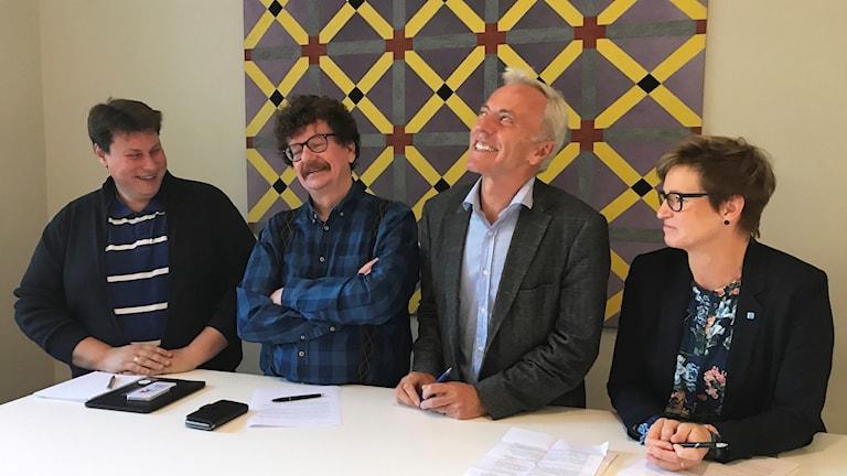 Roger Sandström (C), Lars Stjernkvist (S), Reidar Svedal (L) och Eva-Britt Sjöberg (KD).