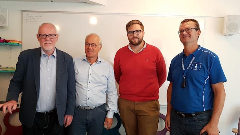 Kenneth Söderman (L) , Thomas Säfström (C), Erik Backman (M) samt Erik Forslund , KD.