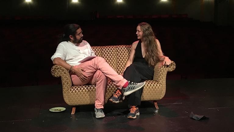 Teaterchefen Nils Poletti och regissören Ragna Wei.