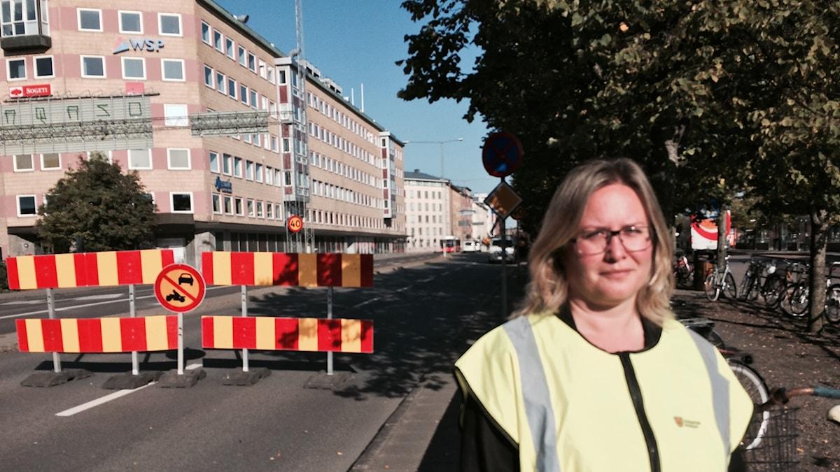 Anna Wahlroth, trafikingenjör, Linköpings kommun.