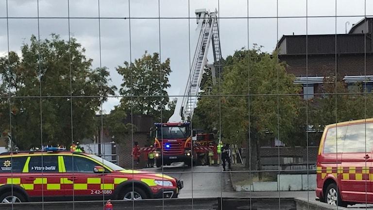 Brand på Ektorpsskolan.