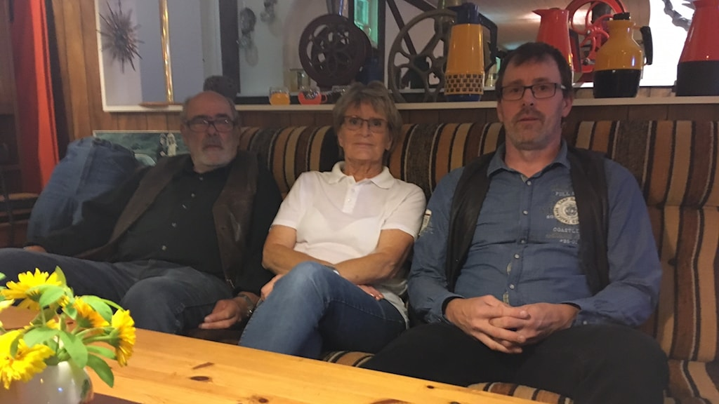 Lars-Erik, Birgitta och Anders Johansson.