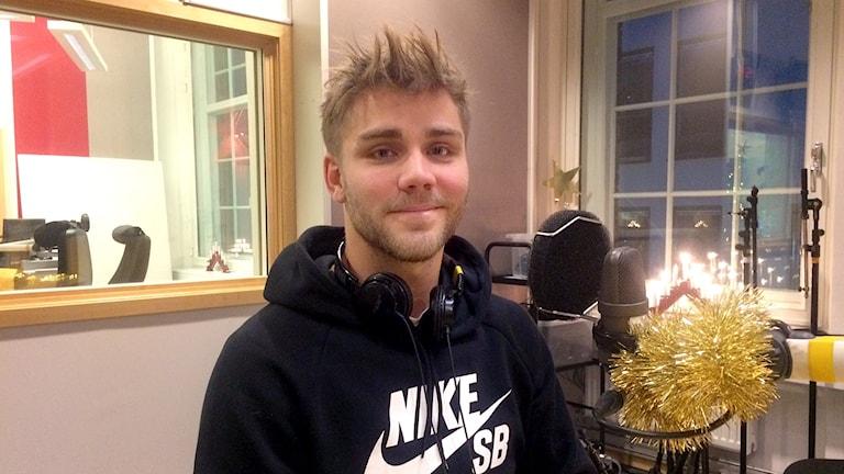 Christoffer Nyman firar jul hemma i Norrköping.