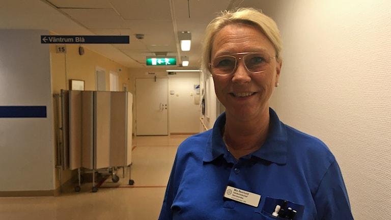 Mia Åkerlund, enhetschef på kvinnohälsan på Vrinnevisjukhuset i Norrköping.