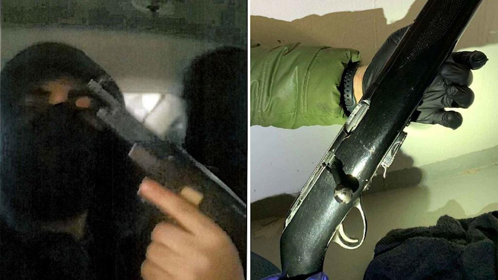 En 19-åring från Linköping misstänks för grovt vapenbrott. När han greps hade han skyddsväst och en pistol på sig.