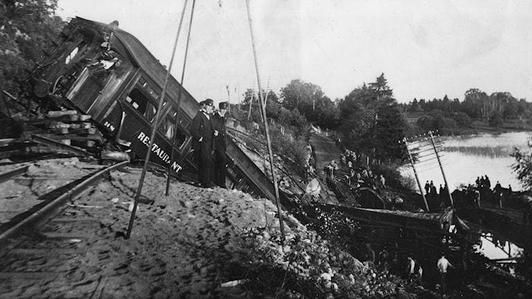 en 1 oktober är det 100 år sedan tågolyckan i Getå.